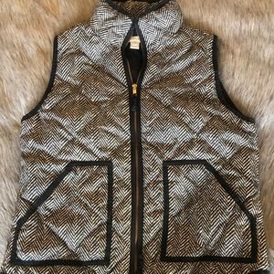 J. Crew Herringbone puffer vest. 💜